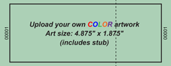 Upload-Your-Own Regular Budget Color Event Ticket