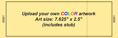 Upload-Your-Own Jumbo Budget Color Event Ticket