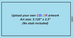 No Stub Upload-Your-Own Large Budget Color Event Ticket