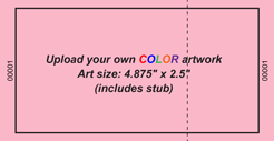 Upload-Your-Own Large Budget Color Event Ticket