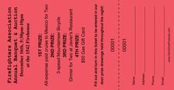 large vertical raffle ticket