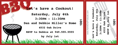 bbq plate ticket template
