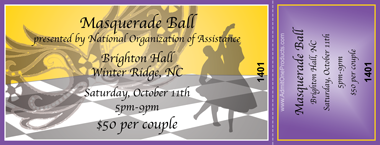Captivating Masquerade Ball Full Color Ticket Within Ball Ticket Template