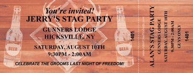 party style event ticket printing