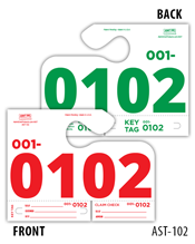Auto Service Dispatch Control Tags - 4 Digits AST-102