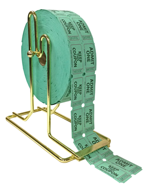 Brass Plated Roll Ticket Holder