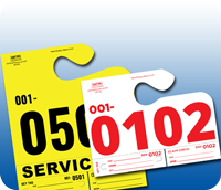Stock Auto Service Tags