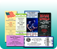 Event Ticket Samples