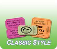 Custom Classic Roll Tickets