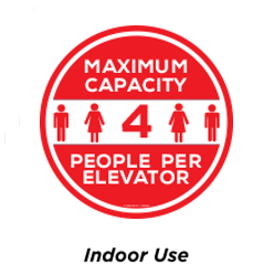 8.5 in. Floor Decal CIR-8.5-7-A - Packs of 10
