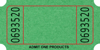 "1"" x 2"" Blank Roll Tickets"