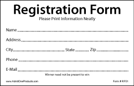 2-3/4 x 4-1/4 Stock Registration Forms