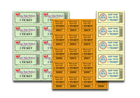 Custom Sheet Tickets