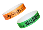Halloween-themed wristbands also available