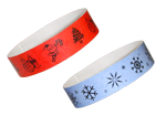 Christmas-themed wristbands also available