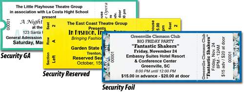 Event Ticket Printing Samples – Theatre Ticket Template
