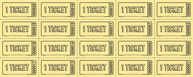 Ticket sheets of 20 style 1 from admit one products for Coat check tickets template