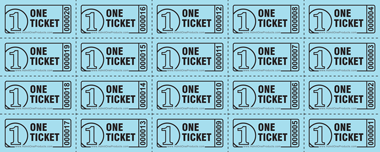 Ticket Sheets of 20 - Style 2