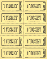 ticket sheet