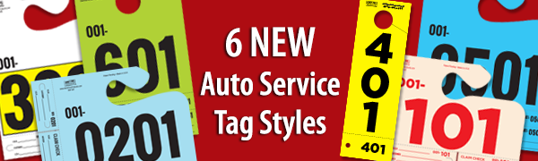 6 New Auto Service Tag Styles