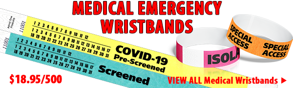 Medical Emergency Wristbands