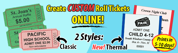 Create Custom Roll Tickets Online