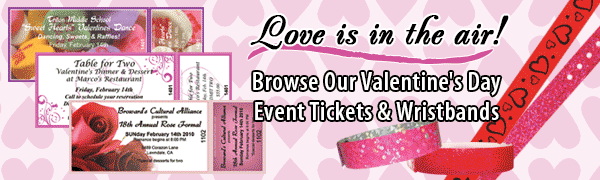 Browse our Valentines Day themed event tickets and wristbands!