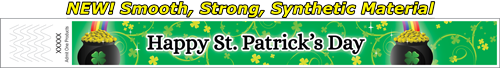 "1"" St. Patrick's Day Full Color Synthetic Wristbands"