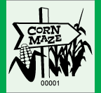 "1.83"" x 2"" Corn Maze Roll Ticket"